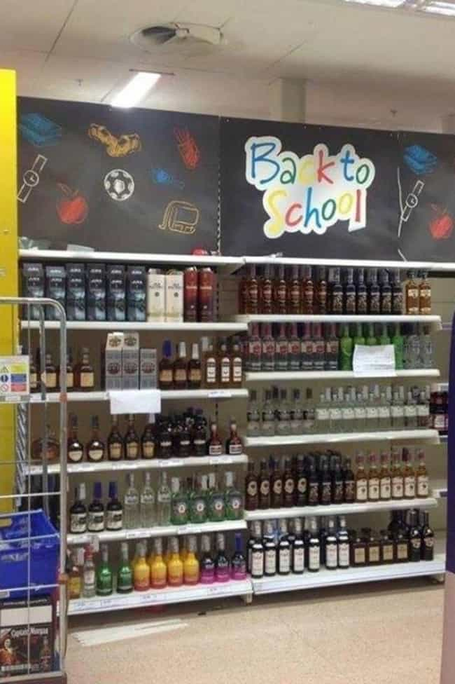 The Parents' Section is listed (or ranked) 1 on the list 50 Really Stupid Supermarket FAILs