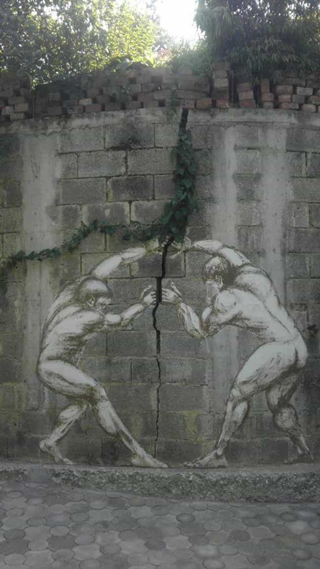 These Two Strong Men is listed (or ranked) 4 on the list The Most Beautiful Street Art In The World