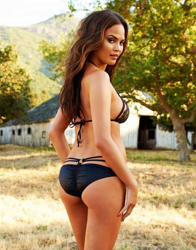 Chrissy Teigen in Black String... is listed (or ranked) 1 on the list The Hottest Chrissy Teigen Model Photos
