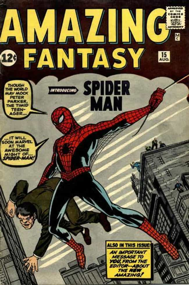 Amazing Fantasy #15 is listed (or ranked) 2 on the list The Greatest Superhero Comic Book Covers of All Time