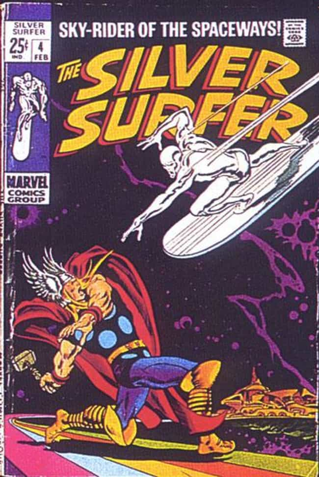 Silver Surfer #4 is listed (or ranked) 4 on the list The Greatest Superhero Comic Book Covers of All Time