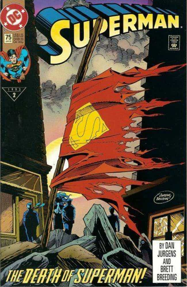 Superman #75 is listed (or ranked) 4 on the list The Greatest Superhero Comic Book Covers of All Time