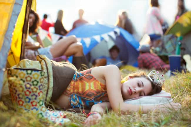 Make Sure the Sleeping Situati... is listed (or ranked) 7 on the list 17 Ways To Make Your Music Festival Experience Legendary