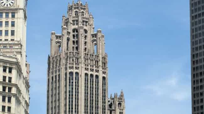 Tribune Tower, 435 N Michigan ... is listed (or ranked) 4 on the list The 50 Most Beautiful Buildings in Chicago