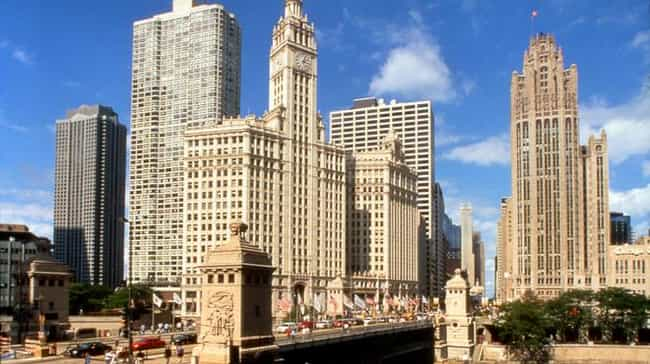 Wrigley Building, 400–14 N Mic... is listed (or ranked) 1 on the list The 50 Most Beautiful Buildings in Chicago