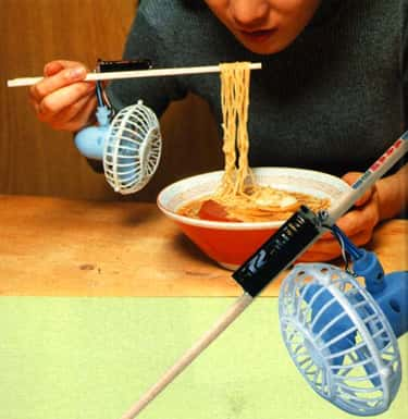 Noodle Cooler is listed (or ranked) 6 on the list 10 Japanese Inventions And Gadgets That Might Be Causing More Problems Than They're Solving