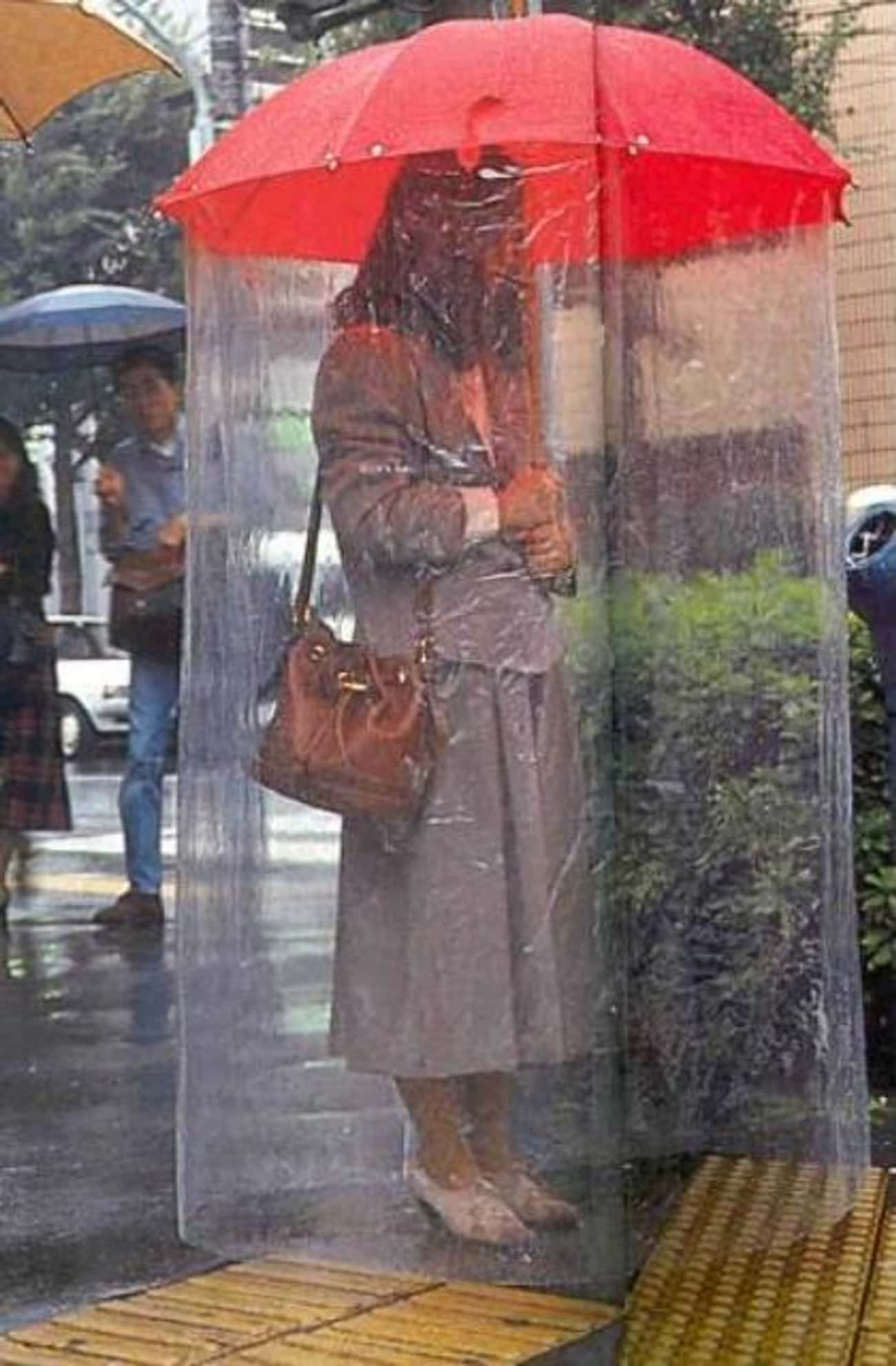 Extended Umbrella is listed (or ranked) 1 on the list 10Japanese Inventions And Gadgets That Might Be Causing More Problems Than They're Solving