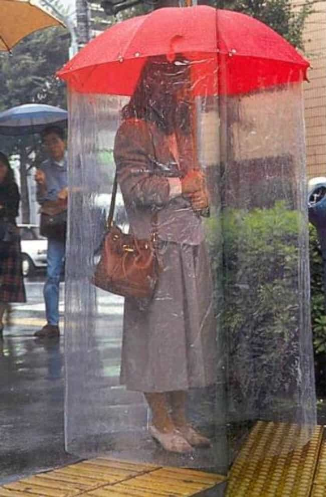 Extended Umbrella is listed (or ranked) 1 on the list 17 Japanese Inventions And Gadgets That Might Be Causing More Problems Than They're Solving