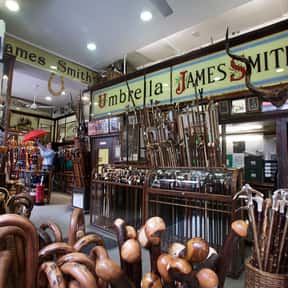 James Smith Umbrellas is listed (or ranked) 21 on the list The Most Quintessential British Brands