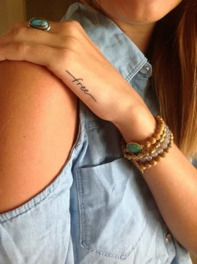 Single Words is listed (or ranked) 1 on the list The Coolest Minimalist Tattoos