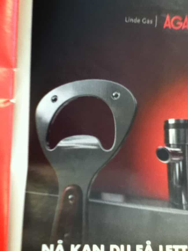 This Bottle Opener is listed (or ranked) 4 on the list 41 Inanimate Objects Who Look Terrified