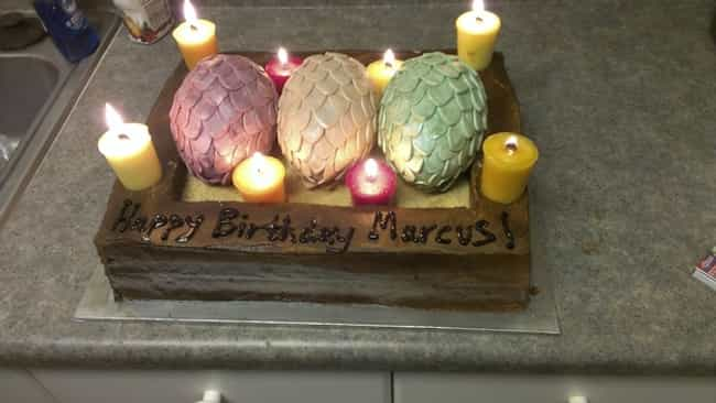 Marcus's Dragon Eggs is listed (or ranked) 4 on the list 25 Game Of Thrones Cakes Just Waiting To Get Cut