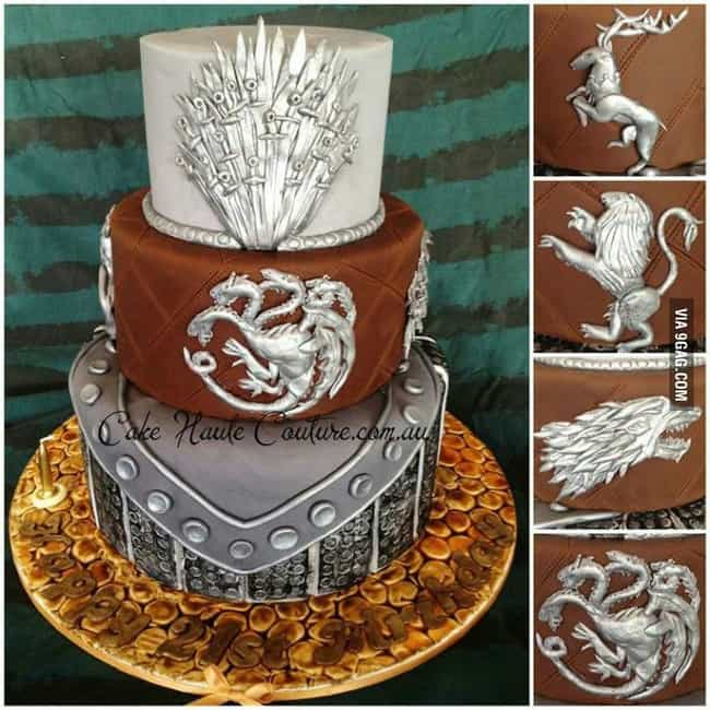 Swag House Sigil Cake is listed (or ranked) 3 on the list 25 Game Of Thrones Cakes Just Waiting To Get Cut