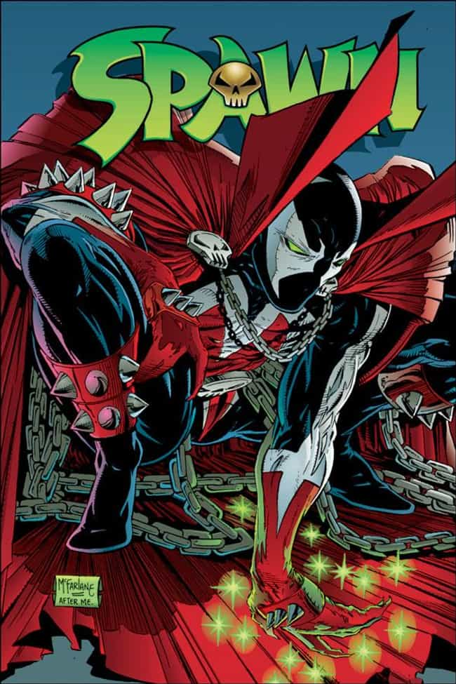 Spawn #8 is listed (or ranked) 4 on the list The 20 Best Comic Book Covers of the '90s