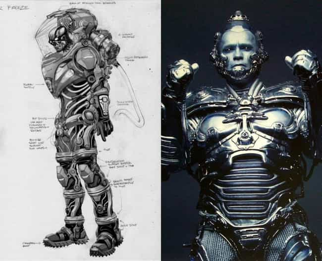 Mr. Freeze Concept Art is listed (or ranked) 2 on the list Comic Book Concept Art That Was Better Than the Movie