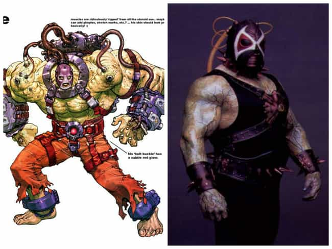 Bane Concept Art is listed (or ranked) 4 on the list Comic Book Concept Art That Was Better Than the Movie