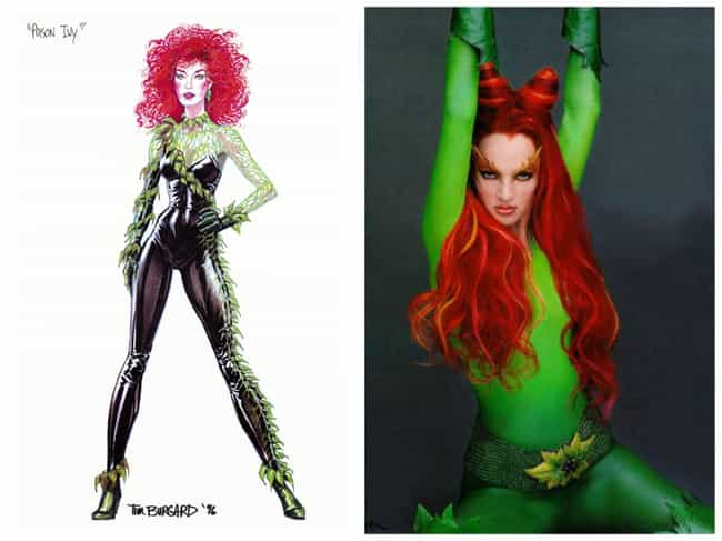 Poison Ivy Concept Art is listed (or ranked) 7 on the list Comic Book Concept Art That Was Better Than the Movie