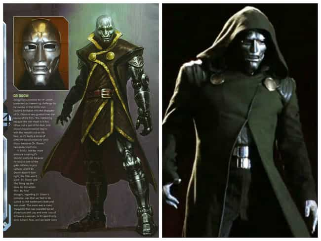 Dr. Doom Concept Art is listed (or ranked) 5 on the list Comic Book Concept Art That Was Better Than the Movie