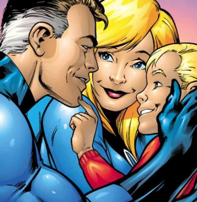 Reed Richards and Sue Storm is listed (or ranked) 2 on the list Superheroes with Children