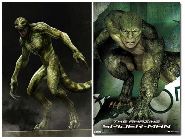 Lizard Concept Art is listed (or ranked) 6 on the list Comic Book Concept Art That Was Better Than the Movie