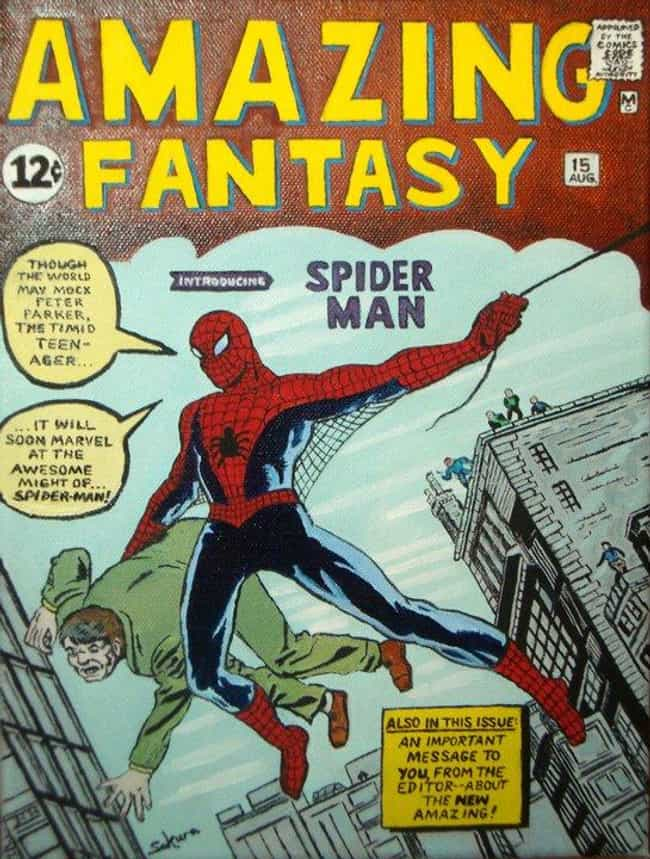 Amazing Fantasy #15 is listed (or ranked) 1 on the list The Best Comic Covers of the 60s