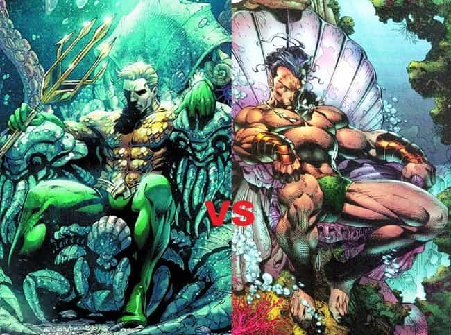 Aquaman and Namor is listed (or ranked) 2 on the list The Most Shameless Marvel/DC Counterparts & Analogs