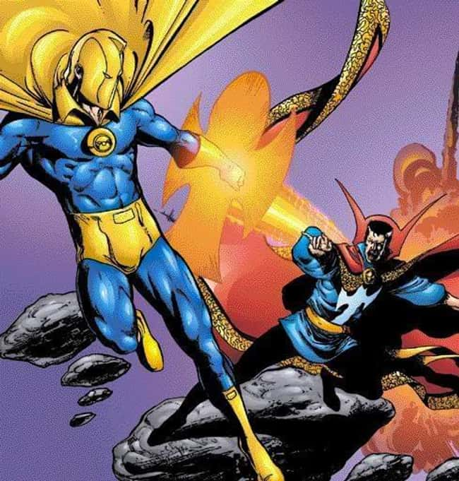 Dr. Fate and Doctor Strange is listed (or ranked) 5 on the list The Most Shameless Marvel/DC Counterparts & Analogs