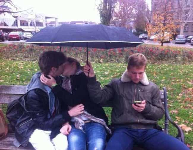 BLAME IT on The RAIN is listed (or ranked) 1 on the list 25 Hilarious Third Wheel Photos of People Who Are Destined to Die Alone