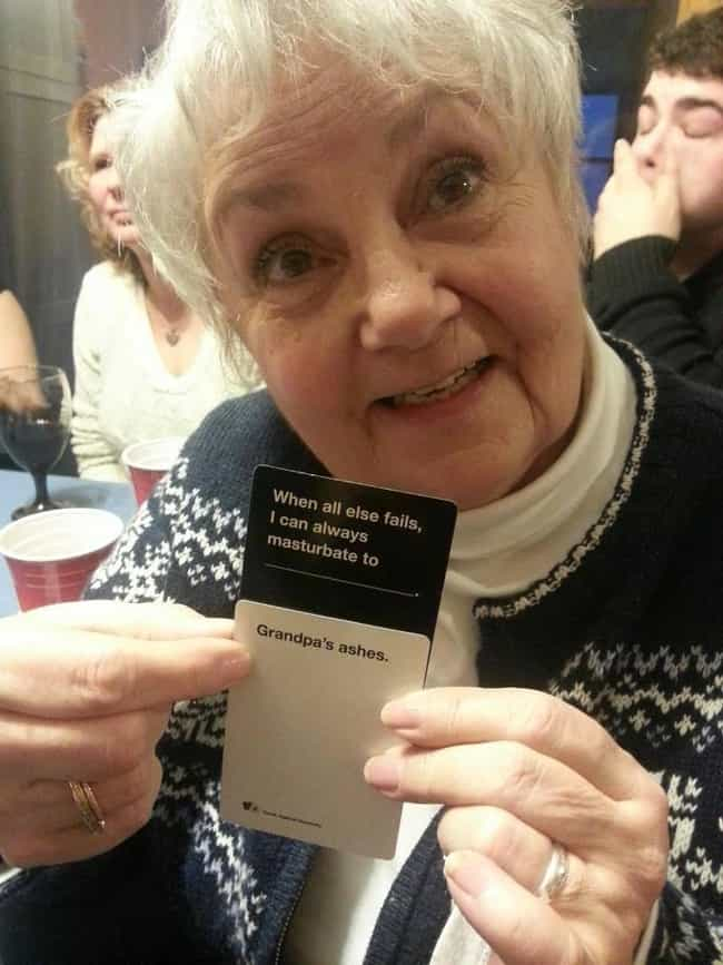Jesus, Grandma! is listed (or ranked) 1 on the list 51 Hilariously Offensive Cards Against Humanity Moments