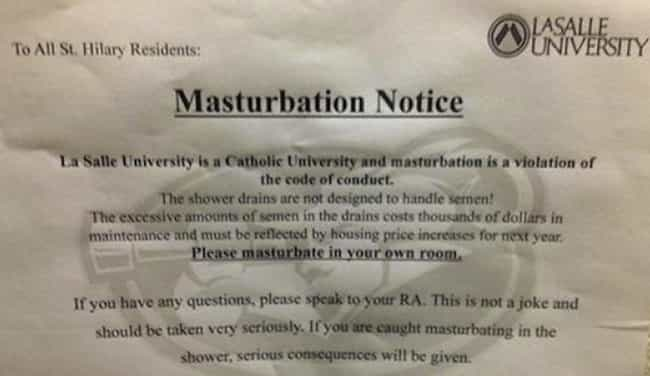 The Fap Tax is listed (or ranked) 4 on the list 56 Hilariously Passive-Aggressive College Dorm Room Signs