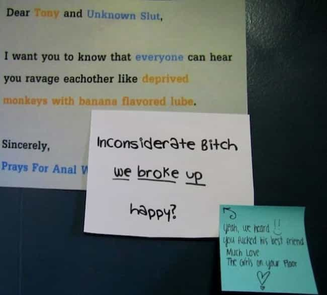 Pure Unbridled Brutality... is listed (or ranked) 3 on the list 56 Hilariously Passive-Aggressive College Dorm Room Signs