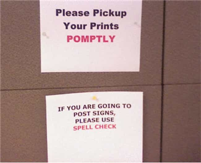 Printing is listed (or ranked) 4 on the list 56 Hilariously Passive-Aggressive College Dorm Room Signs