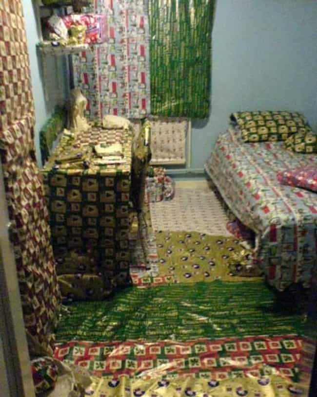 Wrapping Absolutely Everything... is listed (or ranked) 4 on the list The Best College Dorm Room Pranks Of All Time