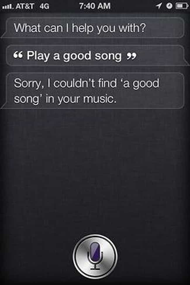 Siri Judges Everything Y... is listed (or ranked) 1 on the list 52 Siri FAILs That Will Ruin Your Day