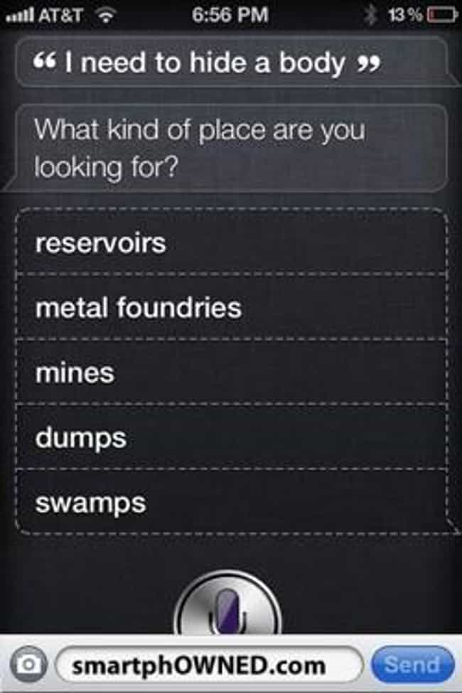 Lots Of Options is listed (or ranked) 2 on the list 52 Siri FAILs That Will Ruin Your Day