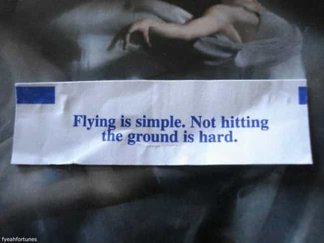 Flying Is NOT Simple is listed (or ranked) 4 on the list 20 Unfortunate Fortune Cookie FAILs