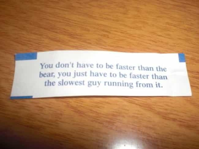 Do the BEAR Bones Minimu... is listed (or ranked) 2 on the list 20 Unfortunate Fortune Cookie FAILs