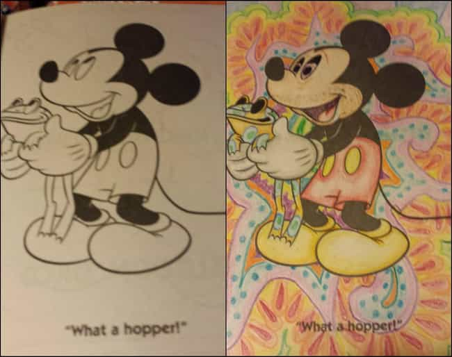 Mickey Trips Balls Is Listed Or Ranked 4 On The List 54 Coloring Book