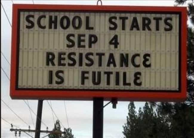 When Things Get Real is listed (or ranked) 1 on the list 54 Funny School Sign Mistakes That'll Make You Smile