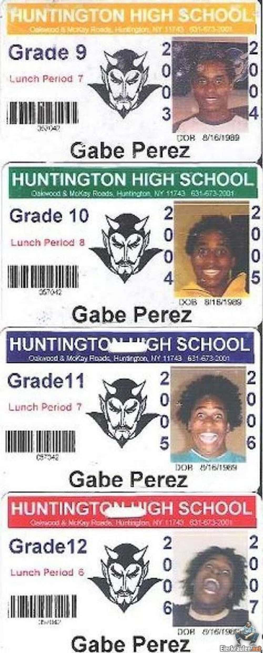 Gabe Perez's IDs is listed (or ranked) 1 on the list 51 Hilarious and Infamous School Picture Day Photos