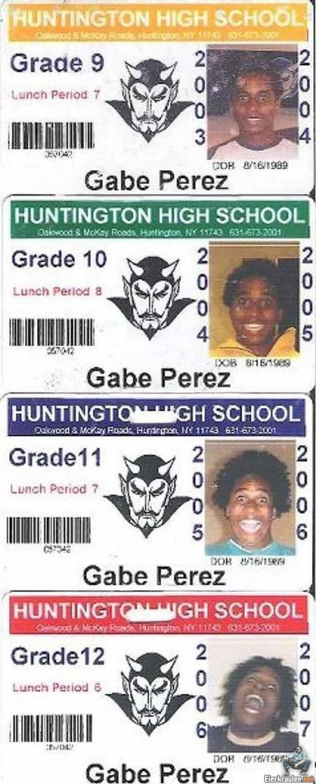 Gabe Perez's IDs is listed (or ranked) 2 on the list 48Hilarious and Infamous School Picture Day Photos