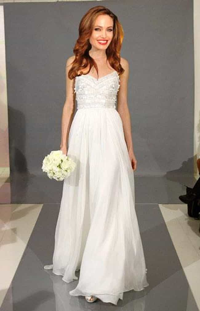So Elegant is listed (or ranked) 3 on the list 14 Dresses Angelina Jolie Did Not Get Married In