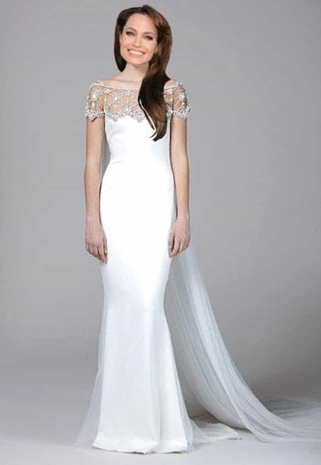 Lovely in Marchesa is listed (or ranked) 1 on the list 14 Dresses Angelina Jolie Did Not Get Married In