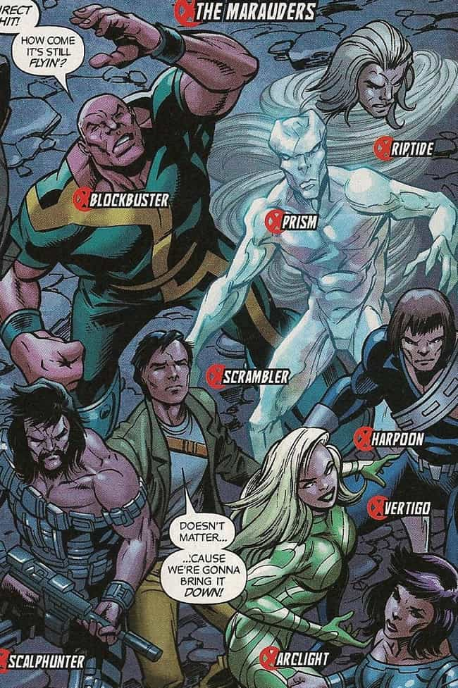 Marauders is listed (or ranked) 4 on the list The Greatest Team of Villains to Go Up Against the X-Men