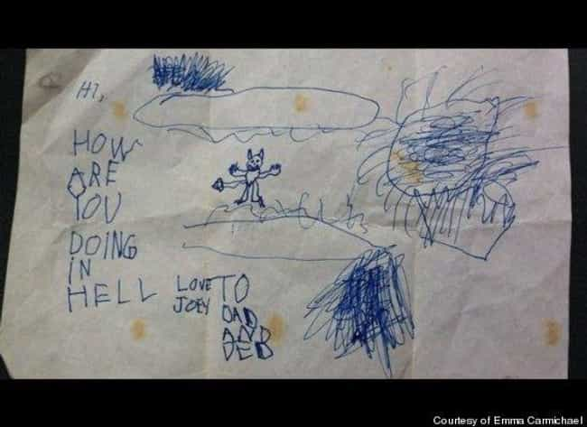 Terrifying is listed (or ranked) 2 on the list Creepy Notes That Will Put You Off Having Kids
