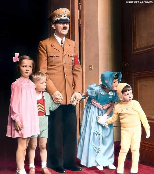 Hitler with a Few Aryan Childr... is listed (or ranked) 3 on the list 25 Behind the Scenes Photos of Children with World Leaders