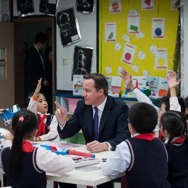 David Cameron Interrogates Chi... is listed (or ranked) 2 on the list 25 Behind the Scenes Photos of Children with World Leaders