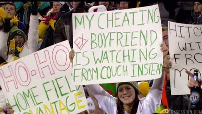 Grade A Shaming is listed (or ranked) 4 on the list The Funniest NFL Game Day Signs