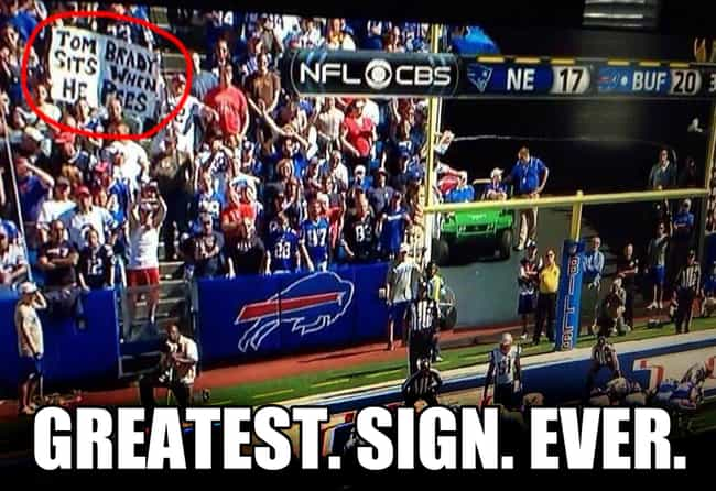 Truth Facts is listed (or ranked) 3 on the list The Funniest NFL Game Day Signs