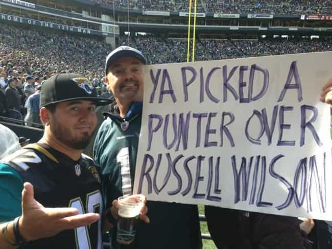 Jaguars Know Football is listed (or ranked) 1 on the list The Funniest NFL Game Day Signs